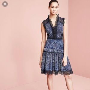 🦋Ellie Tahari Shanna blue Dress